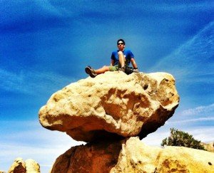 Matt enjoying Joshua Tree National Park California