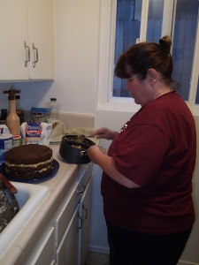 Cooking German Chocolate Cake in San Diego