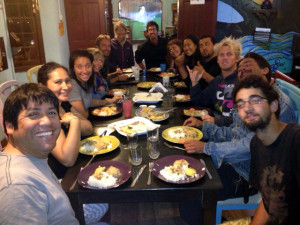 Volunteer Dinner at La Casona Lobitos Peru