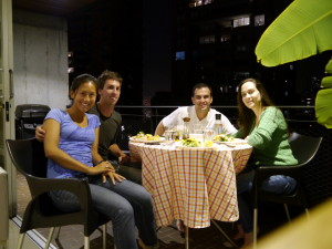 Dinner with Ana Maria & Juan Diego, dining al fresco