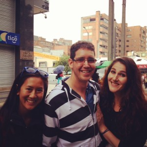 New friends Luis and Jennie (Bogota, Colombia)
