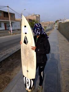 Desert Surfing Bandit in Huanchaco Peru