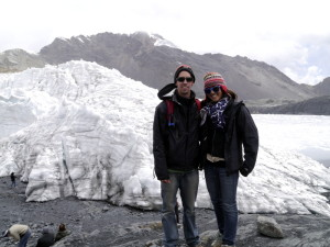 Together at Pastoruri Glacier Peru