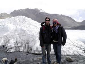 Together at Pastoruri Glacier Peru