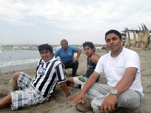 Hanging out in Huanchaco Beach Peru