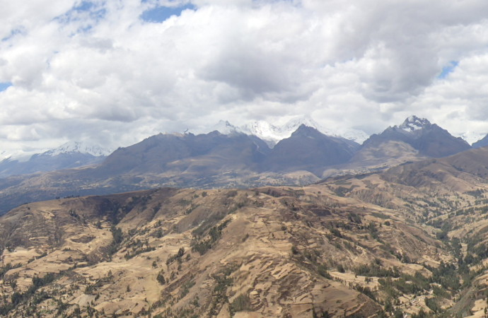 Huaraz Peru Mountains Overlook