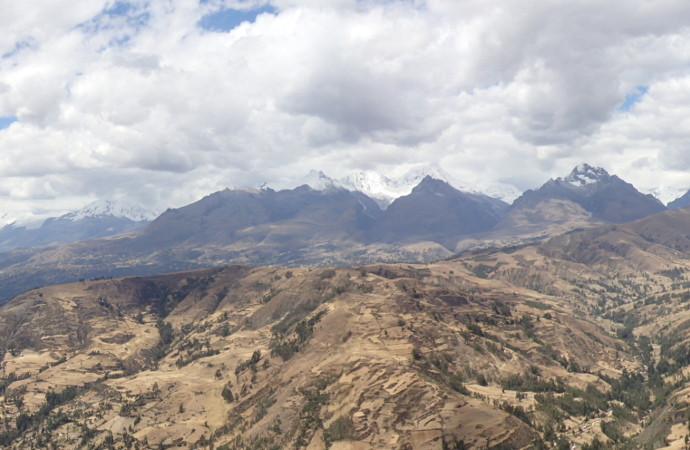 Huaraz Peru Mountains Overlook