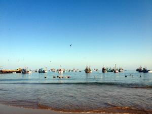 Mancora Peru Fishing Boats
