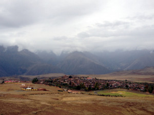 Small town of Maras in the Sacred Valley