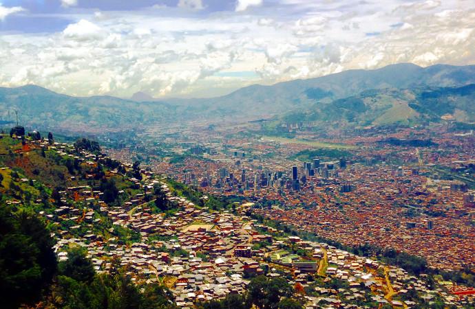 Medellin Colombia City Skyline