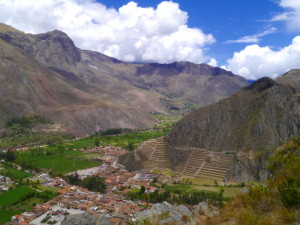 Ollantaytambo Overlook from Pinkullyuna