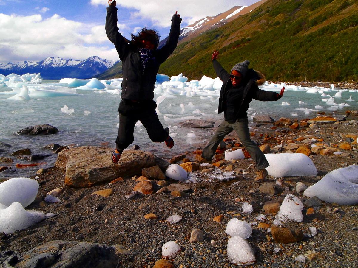 Jumping Perito Moreno Glacier Argentina
