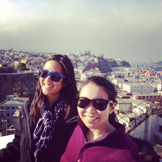 valparaiso hannah amanda overlooking city