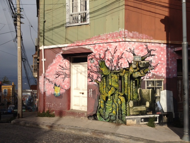valparaiso wall art tree flowers