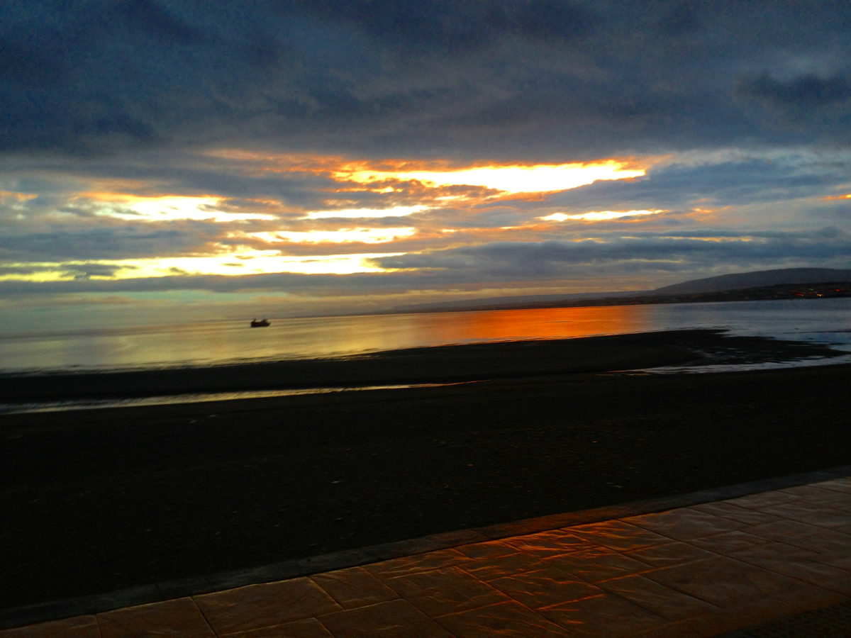 Punta Arenas endless sunset