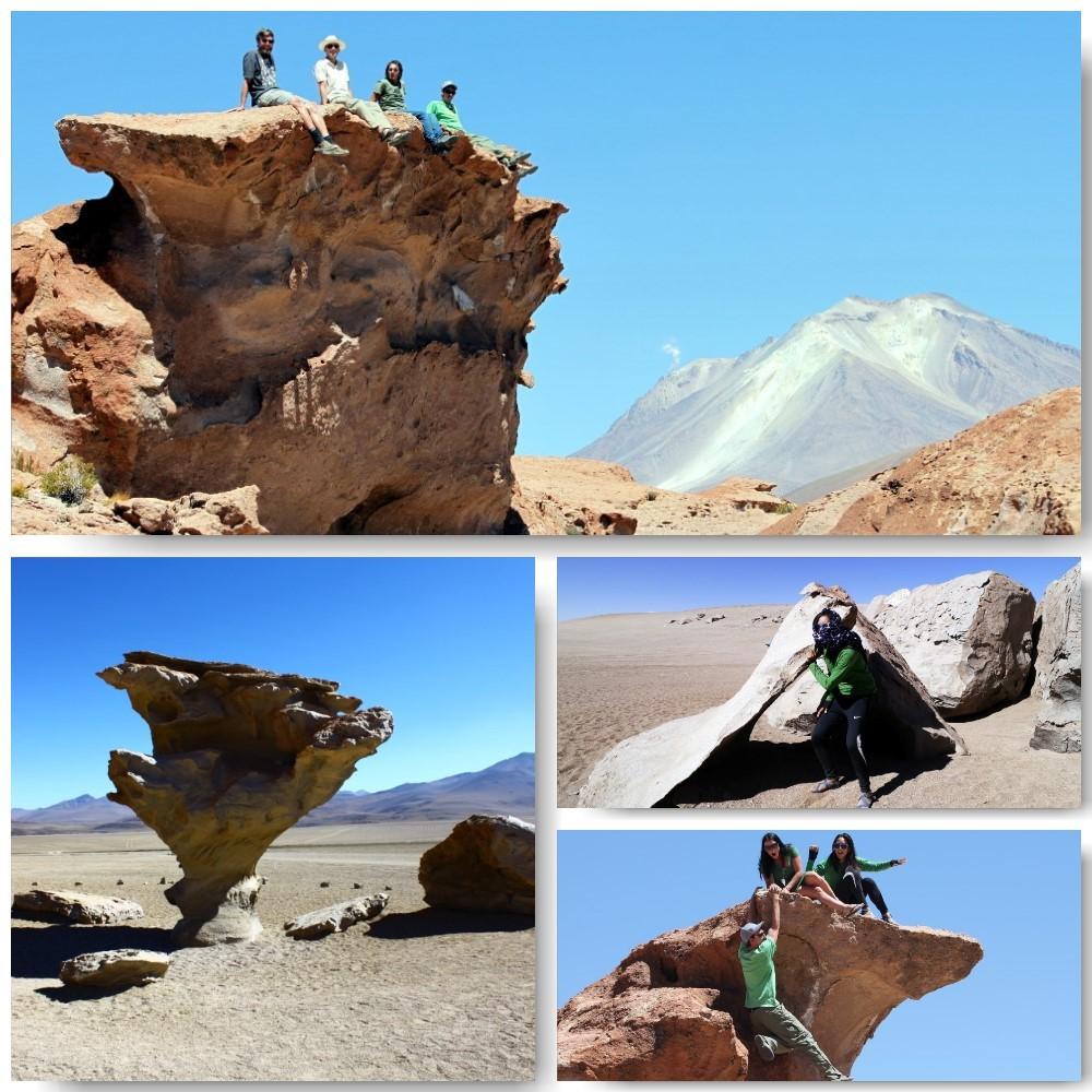 Uyuni Bolivia Rocks Active Volcano