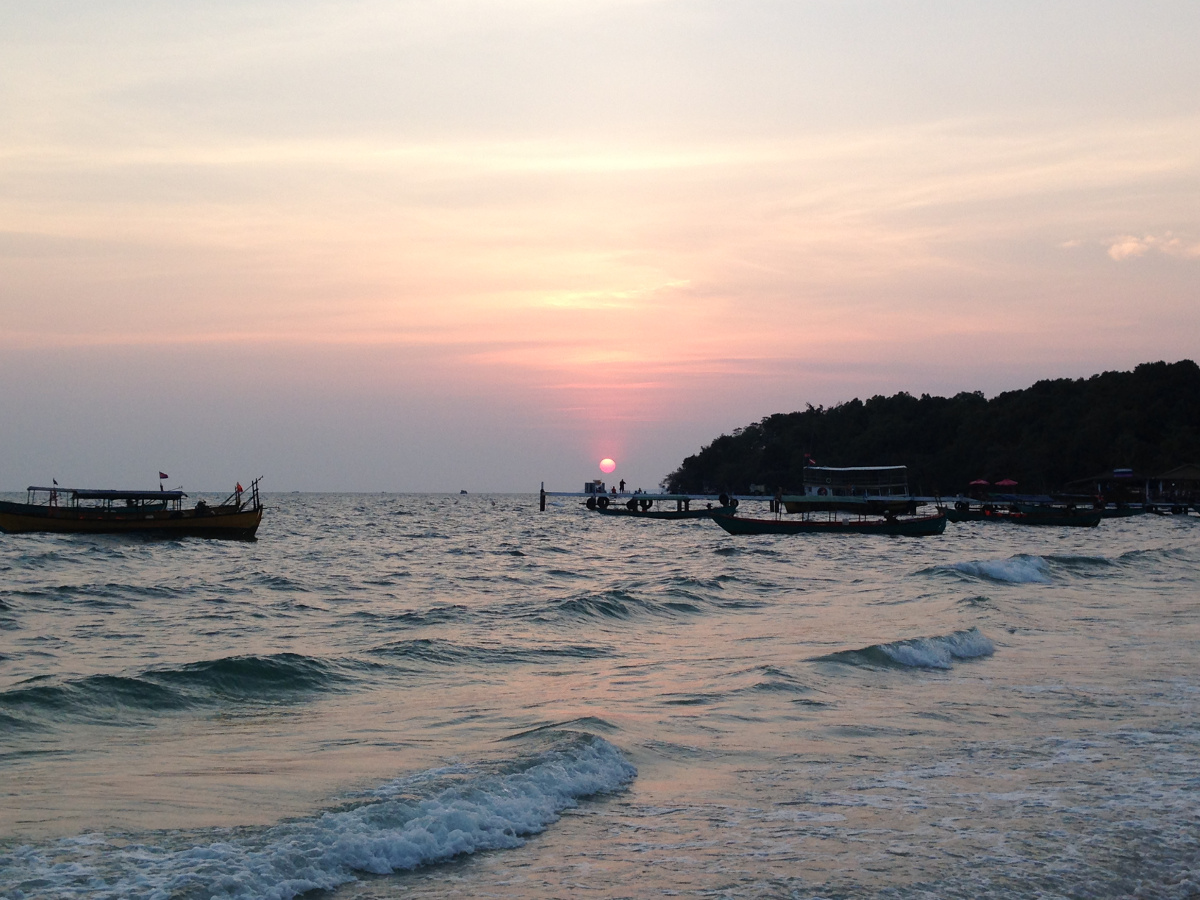 Serendipity Beach Sunset Sihanoukville