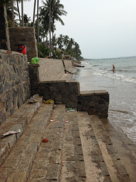 Terrible Mui Ne Beach Seawall