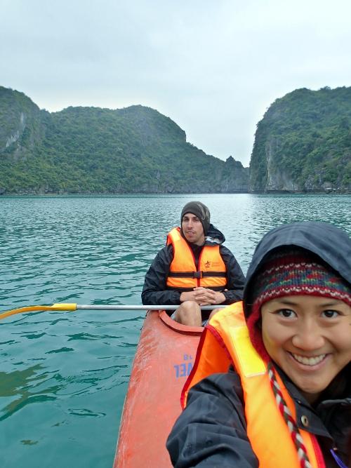 Halong Bay Kayaking Selfie
