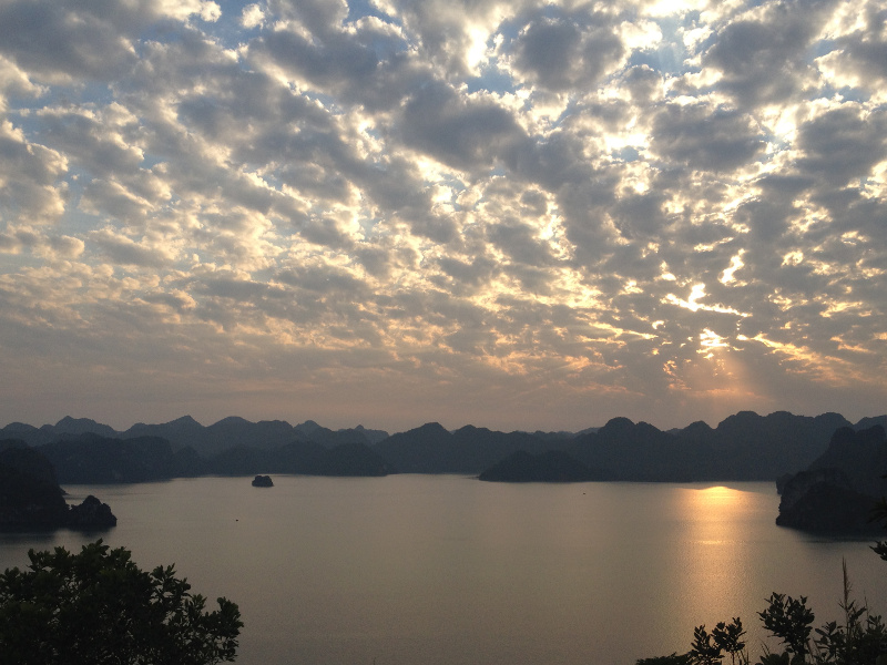 Sunset Over Halong Bay
