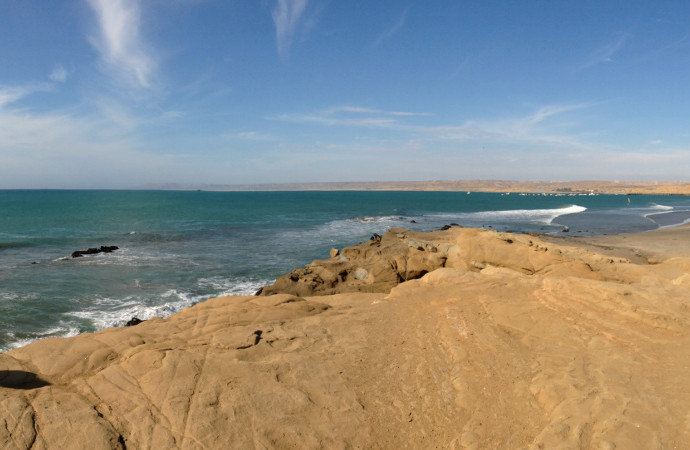 Lobitos Peru Panoramic Photo Beach