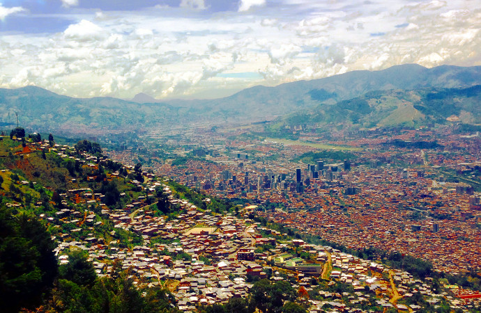 Medellin Colombia City Skyline