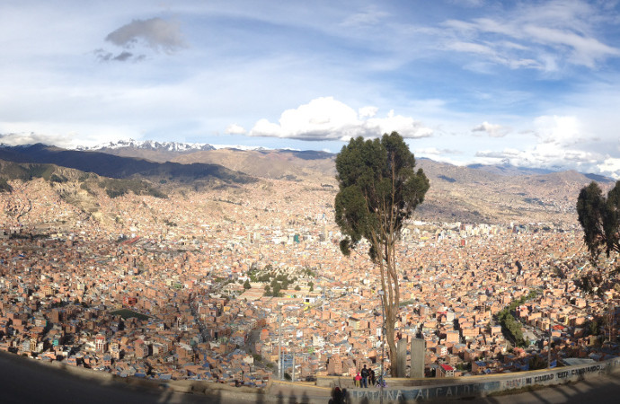 La Paz Bolivia Panoramic