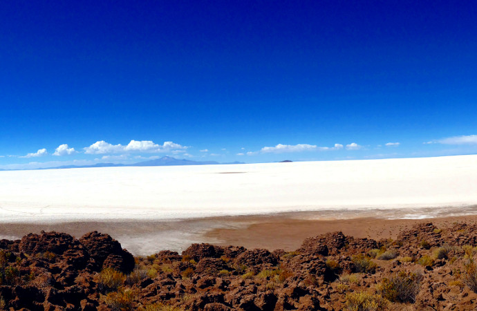 Panoramic view of Salar de Uyuni Bolivia